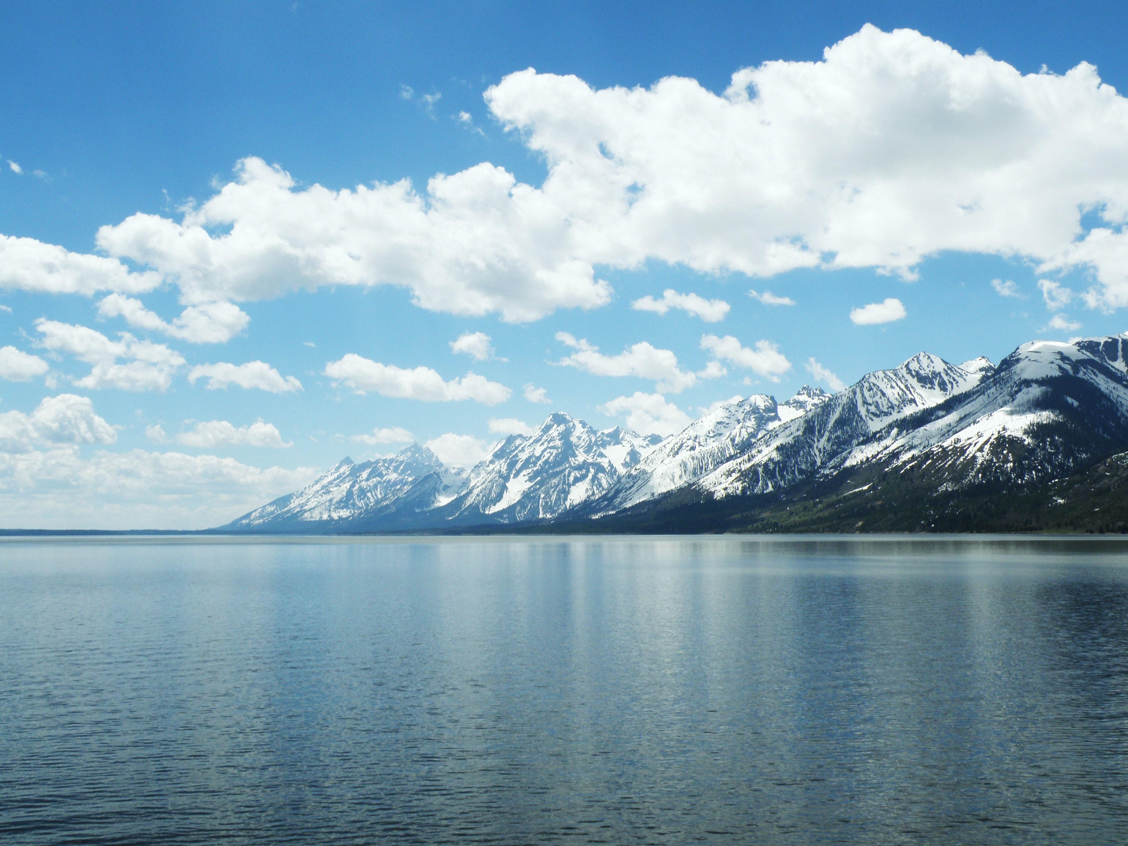 Pegunungan Teton Dari Seberang Danau Jackson