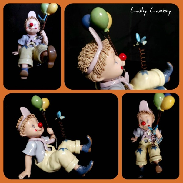 Baby Clown with Balloons 1