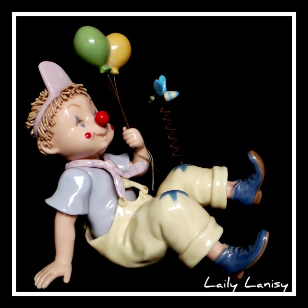 Baby Clown with Balloons 2