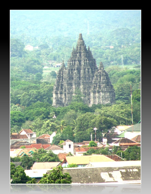 Prambanan Temple from Ratu Boko compound